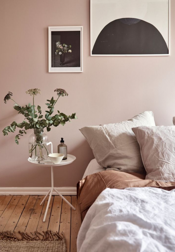 Dusty pink bedroom walls - COCO LAPINE DESIGN